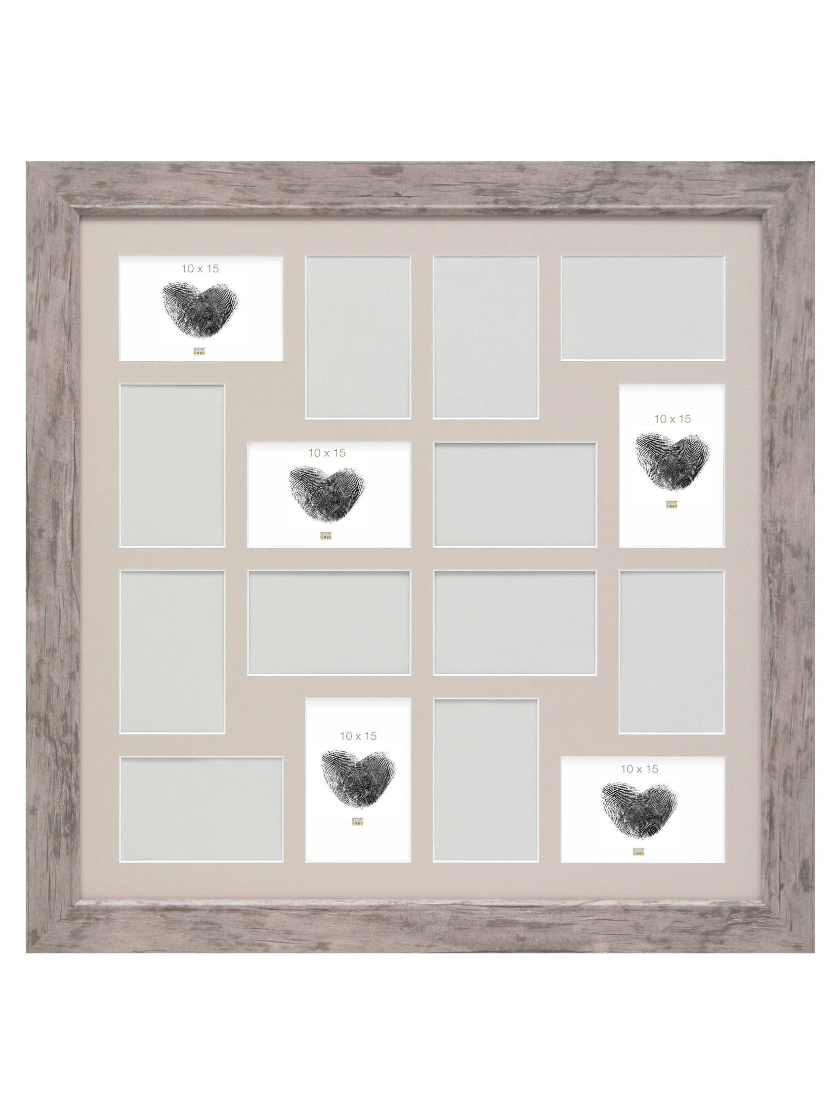 Fotokader p le m le grijsbeige houtkleur voor 16 foto 39 s 10x15 studio sylvia - Huis van de wereld pele mele ...