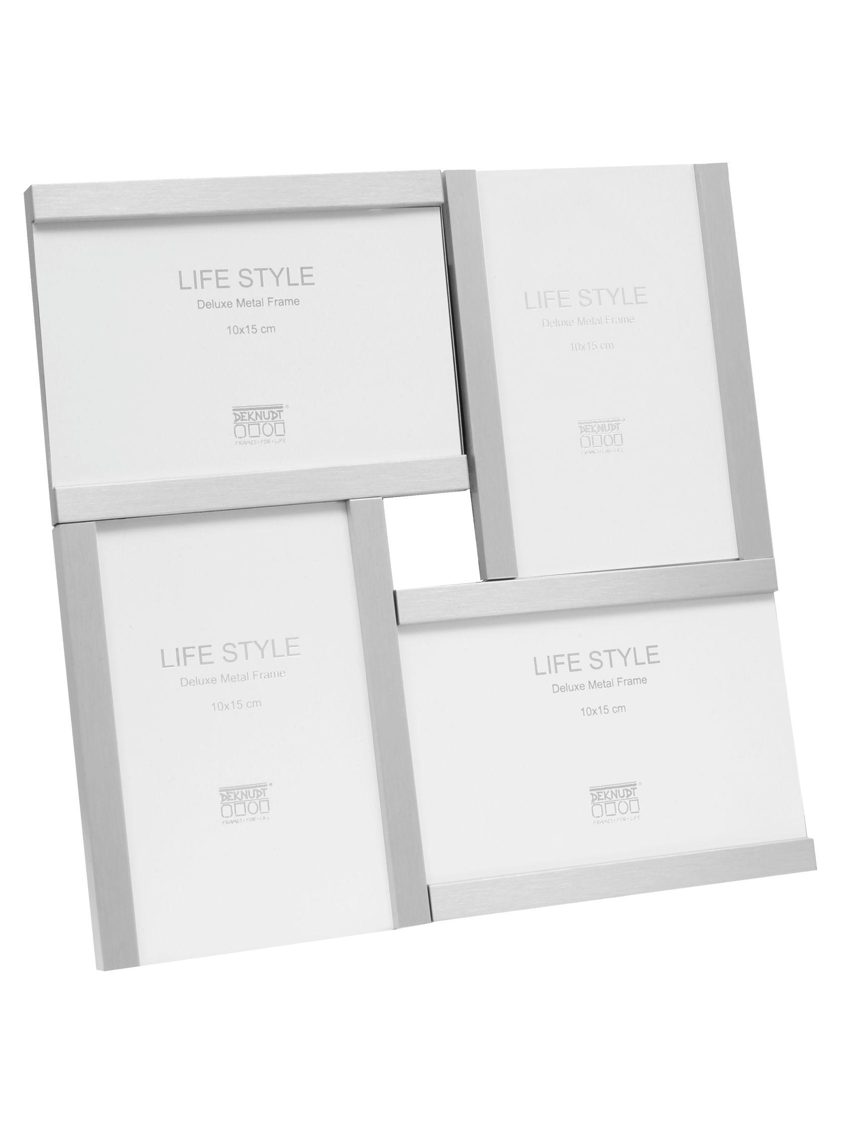 Multifotolijst in matte zilverkleur voor 4 foto's S57MK2 P4