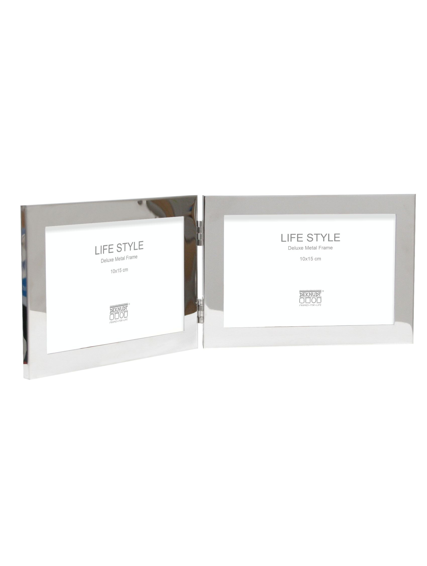 Tweeluik in glanzende zilverkleur voor 2 horizontale foto's S57MQ1 H2H