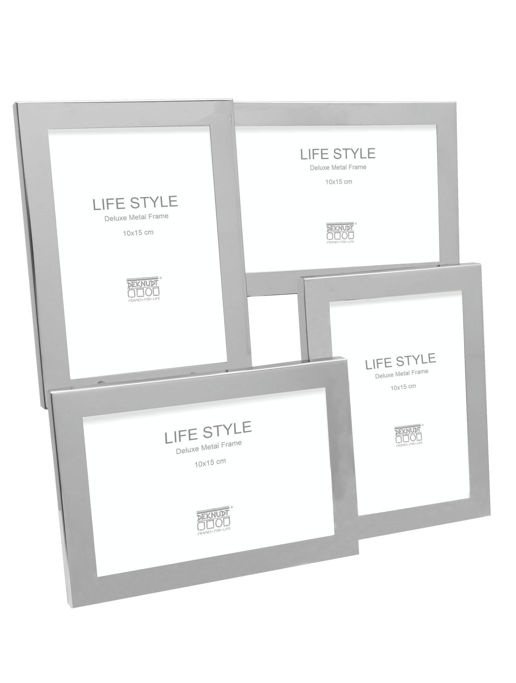Multifotokader in glanzende zilverkleur voor 4 foto's S57MQ1 P4