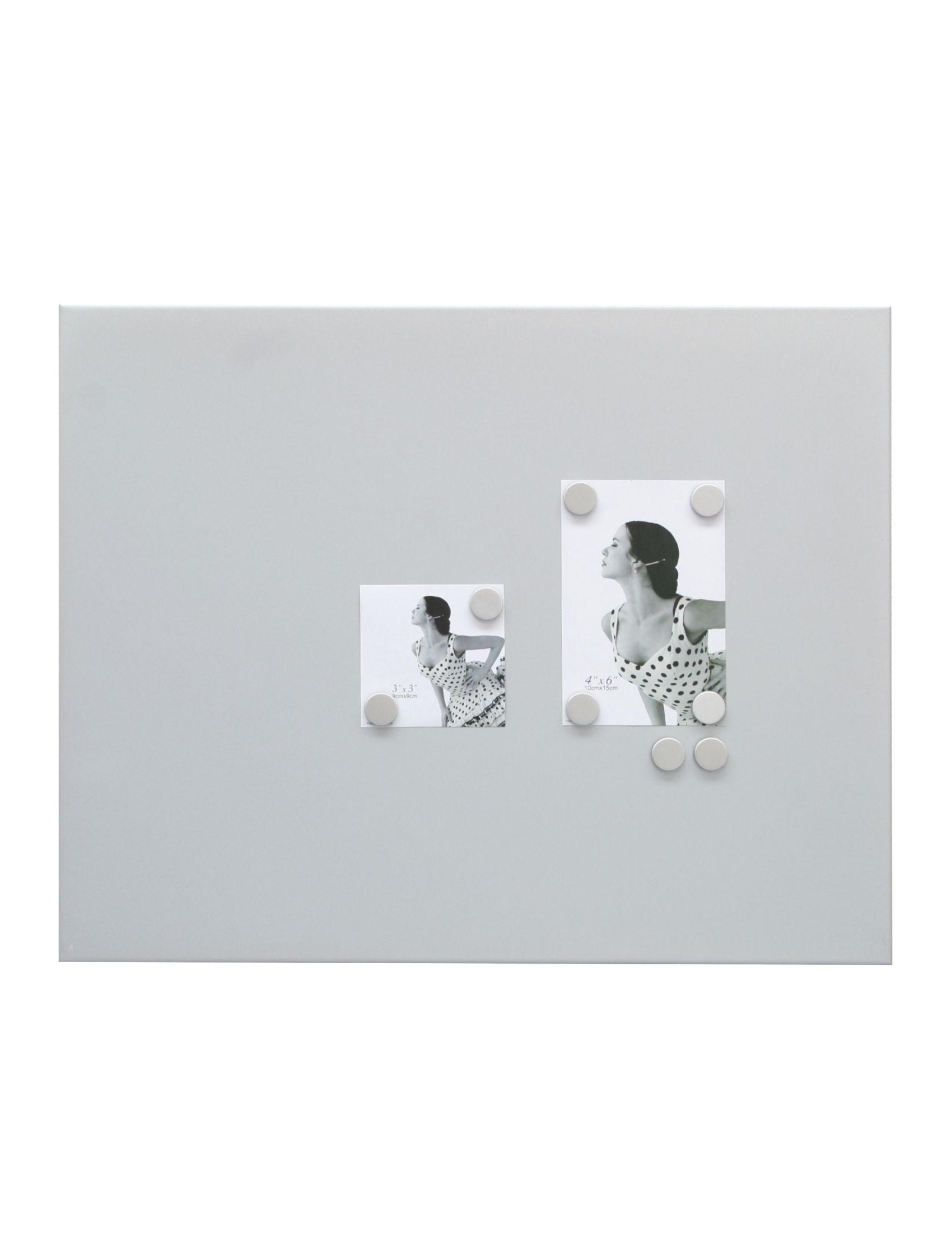 magneetbord mat zilver +  8 ronde magneten S58MN3