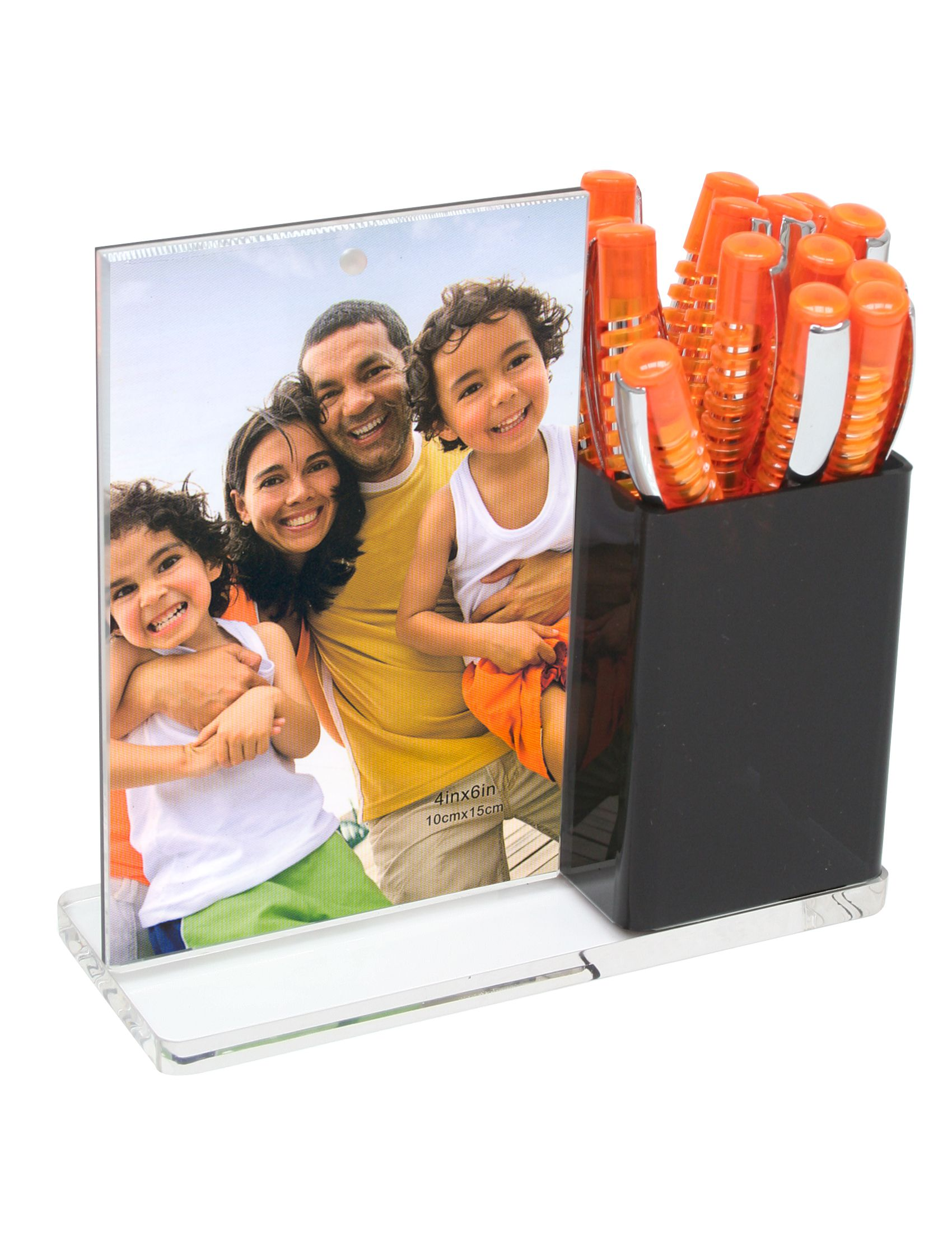 balpenhouder met fotolijst in plexi, voor 10x15cm S58RF5