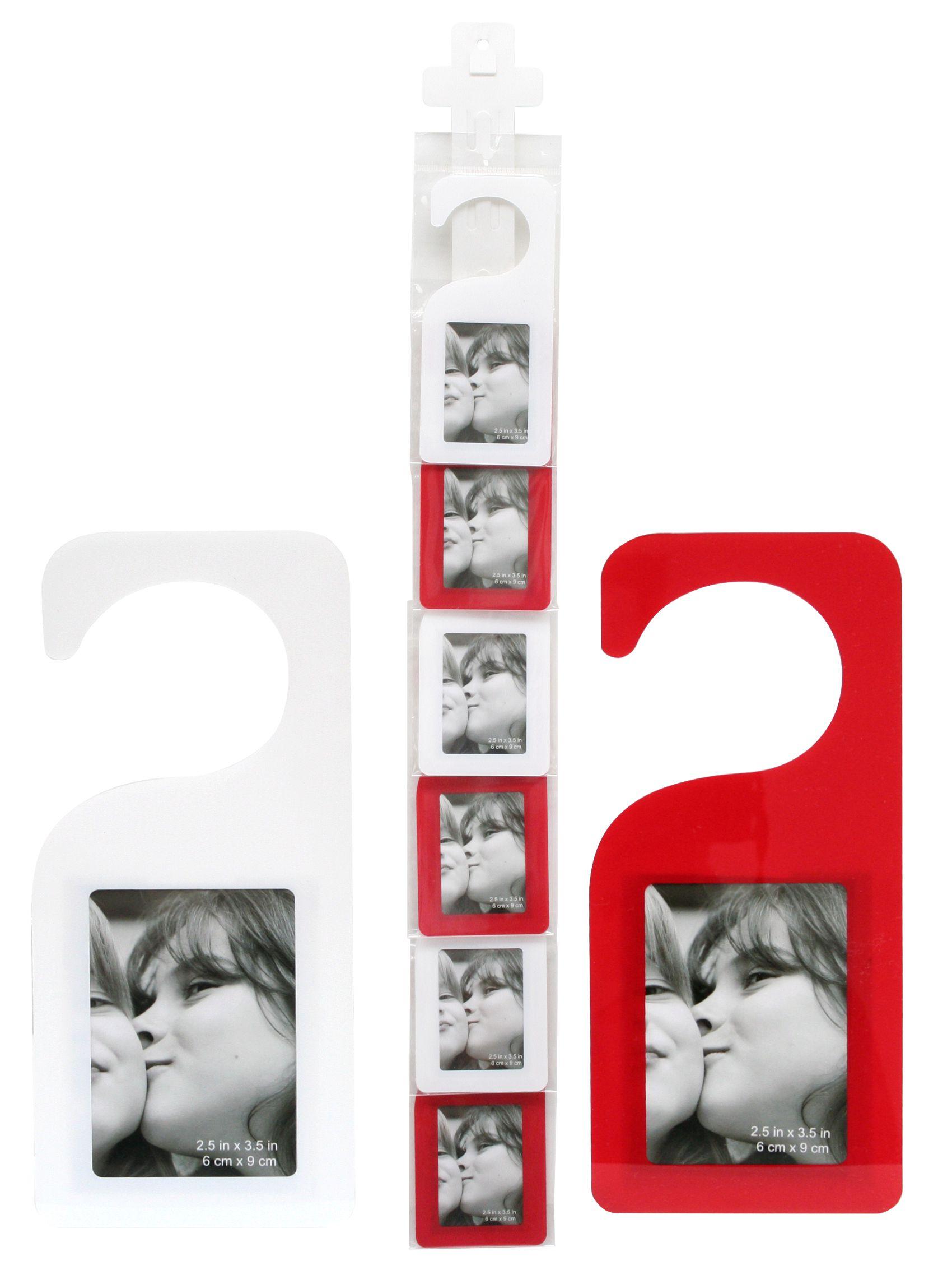 Plexi fotodeurhanger, wit of rood, 20cm hoog S58RH5