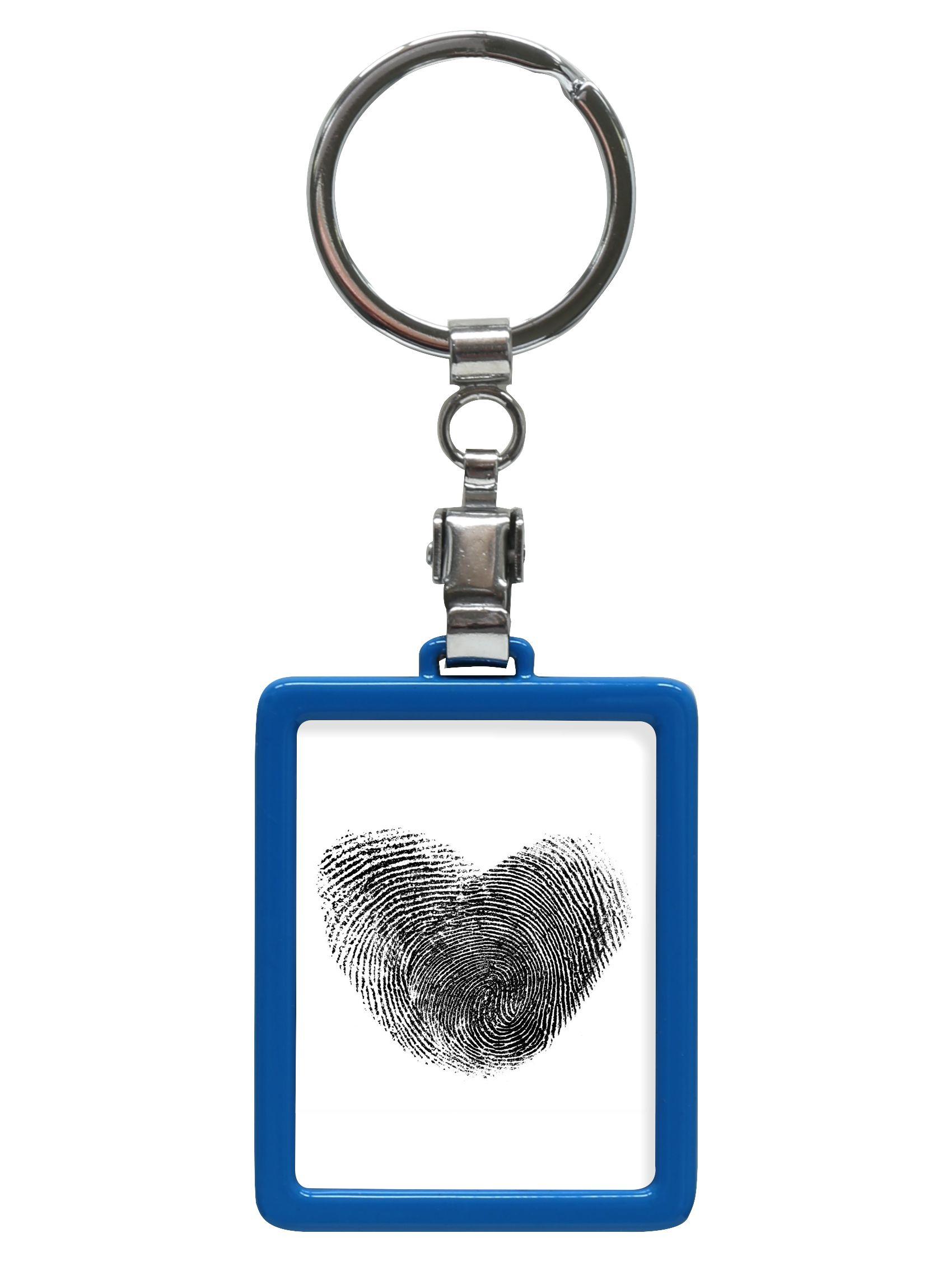 sleutelhanger blauw, rechthoekig S59NK6