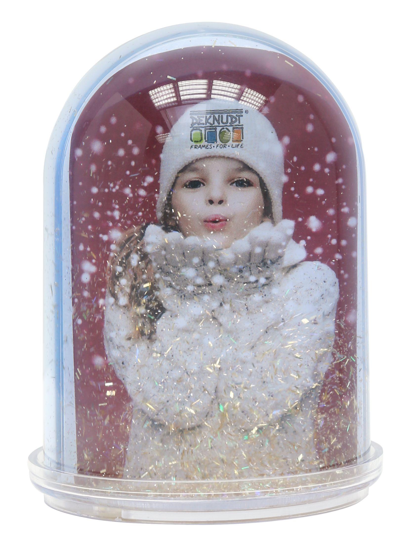 kerst, fotosneeuwbal transparant kunststof S66FA7