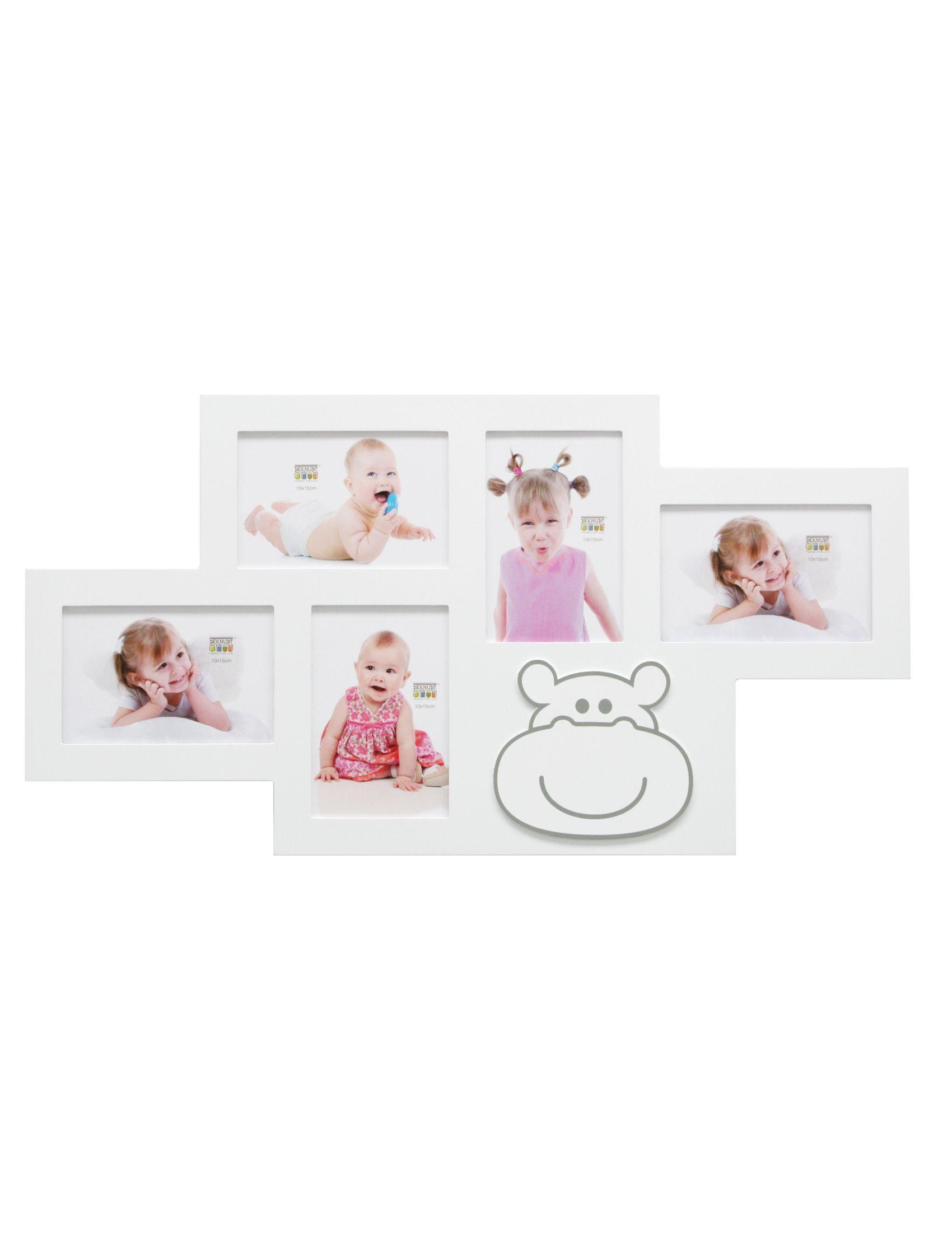 Fun deco multifotolijst wit voor 5 foto 39 s 10x15 studio sylvia - Deco wit ...