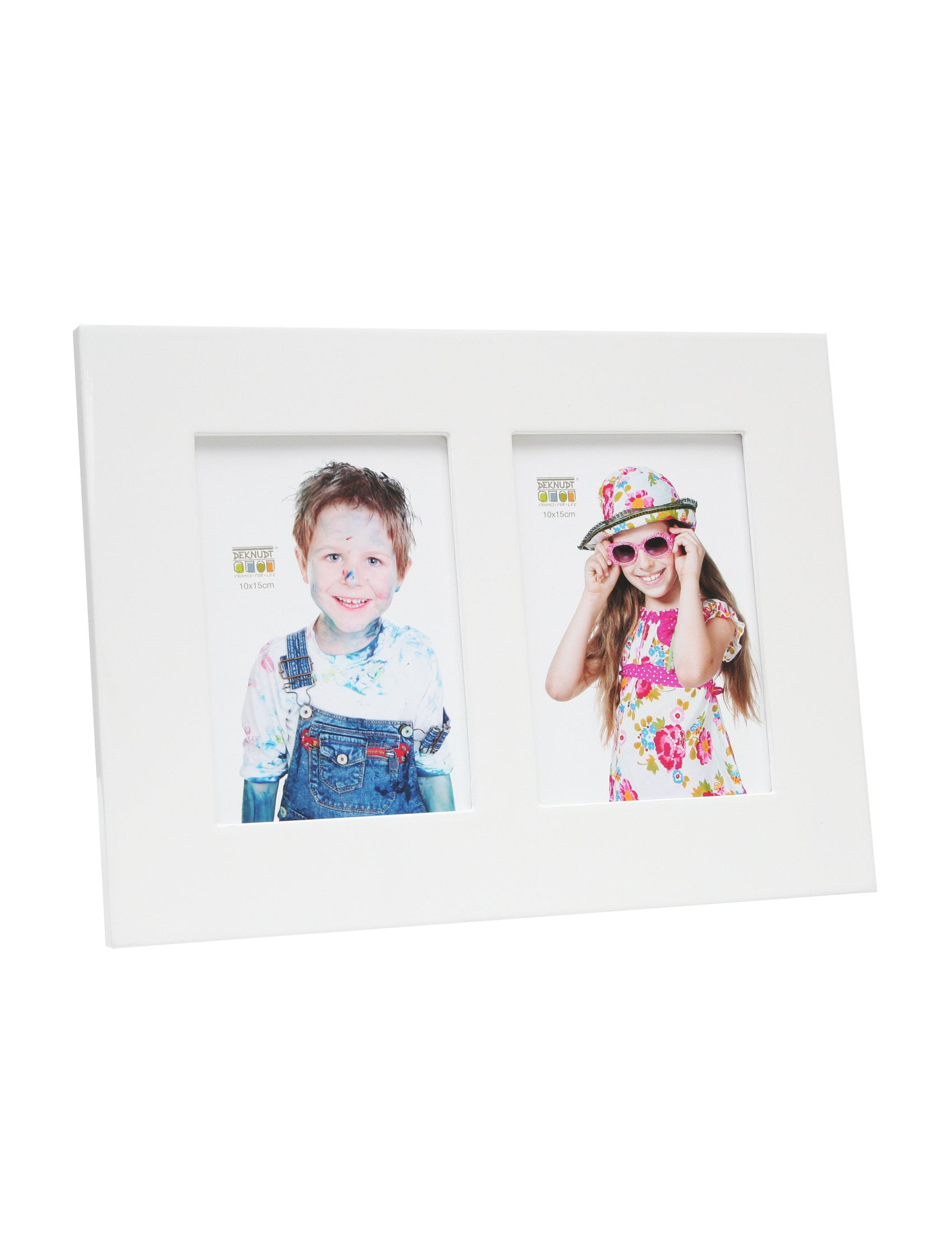 fotokader hoogglans wit, voor 2 foto's S66WK1 P2