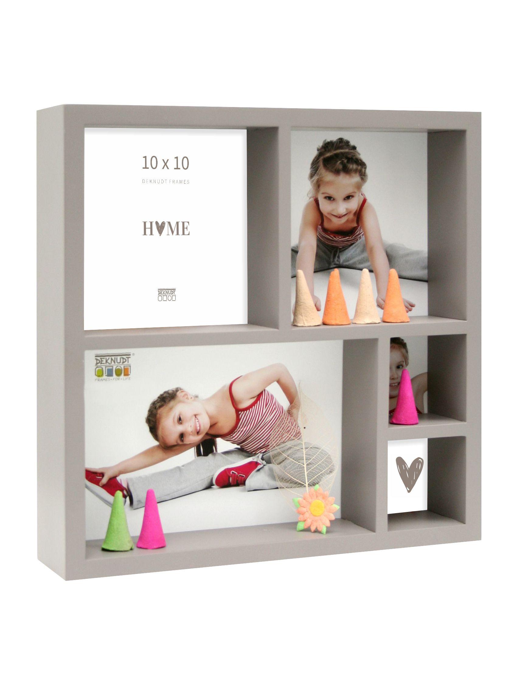 Foto-verzamelbox taupe voor 5 foto's (20x20cm) S66XL9 E5