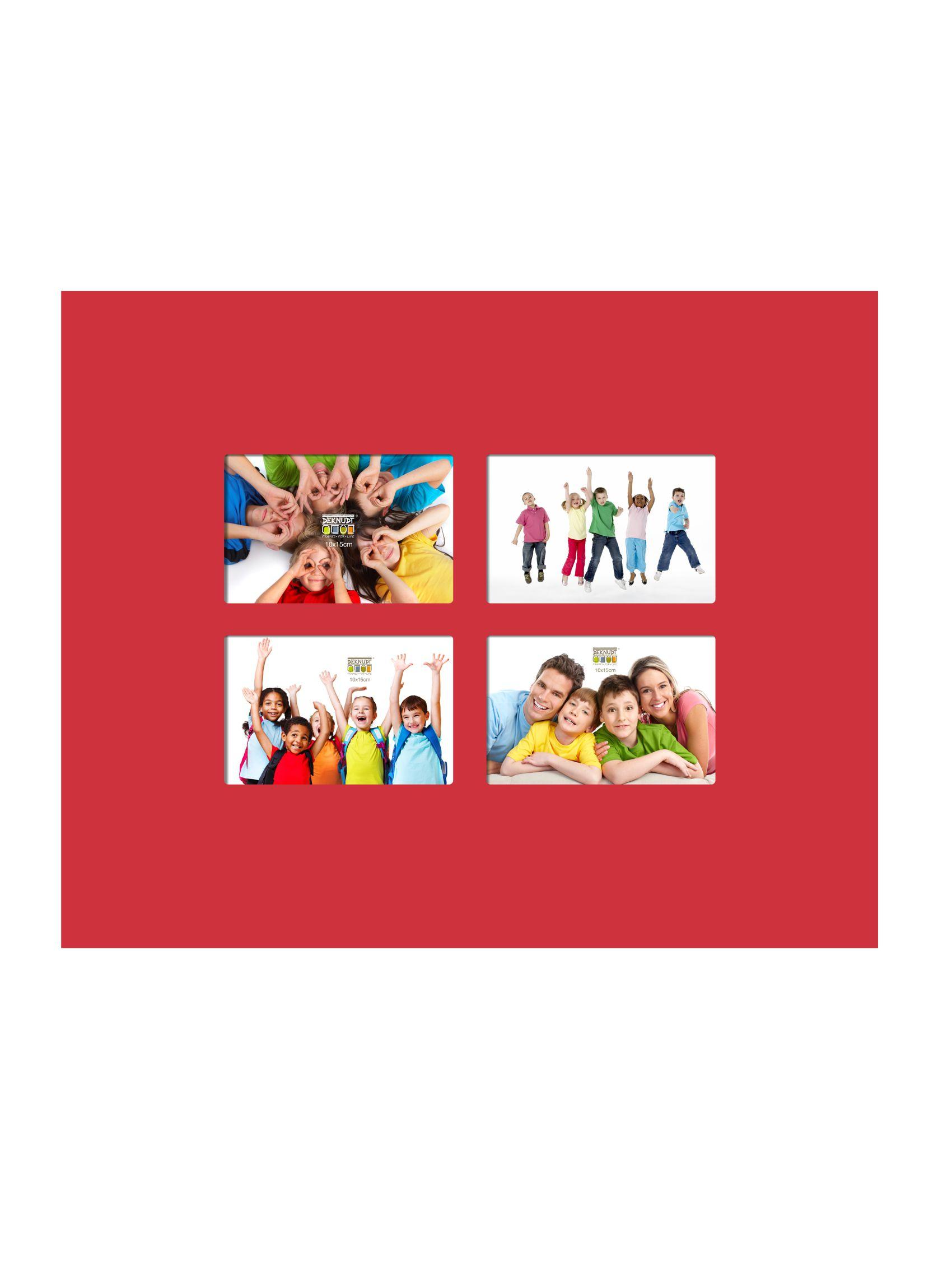vlakke lijst rood voor 4x (10x15)- 41x51cm S67CK4 P4B
