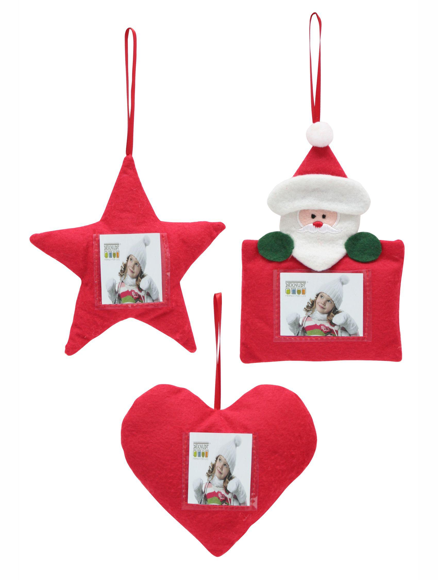 kerst, Kerstboomhangers: sneeuwman (foto 4,5x6)+ hart + ster (foto 4x4) S67HC1
