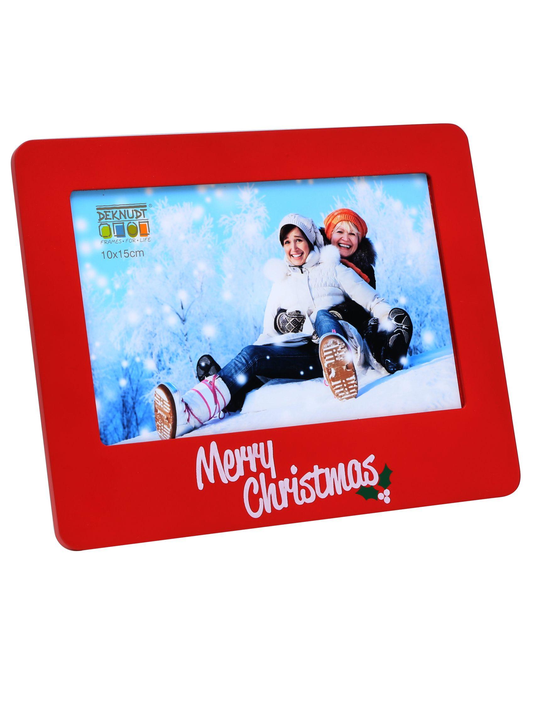kerst, fotokader rood hout S67HD4