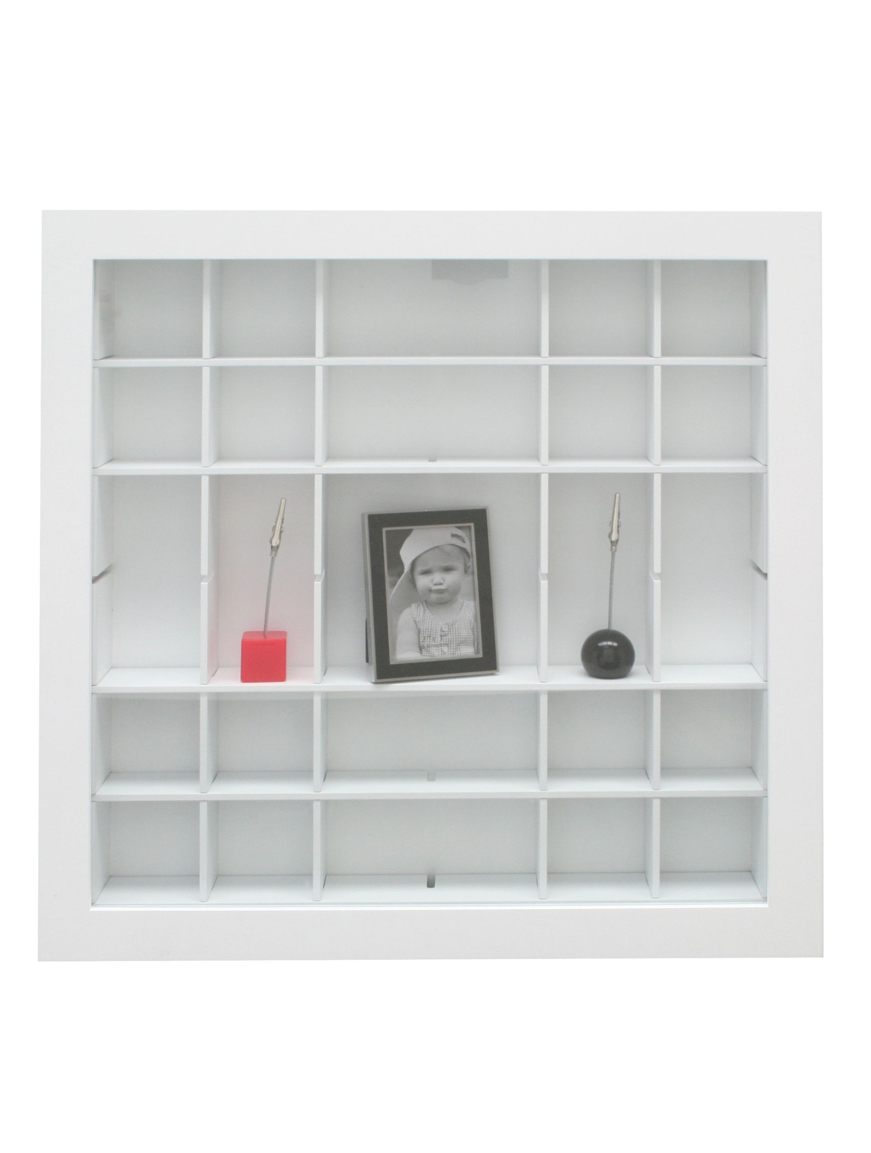 Verzamelbox wit, openingen aanpasbaar, diepte 4,5cm (40x40) en 6,8cm (50x50) S67RY1