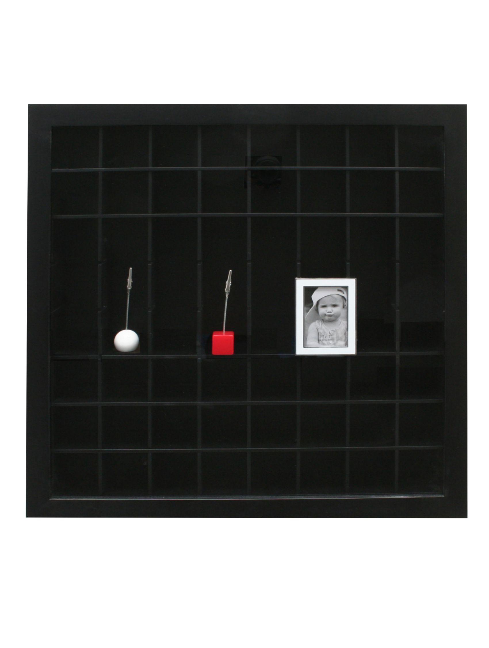 Verzamelbox zwart, openingen aanpasbaar, diepte 4,5cm (40x40) en 6,8cm (50x50) S67RY2