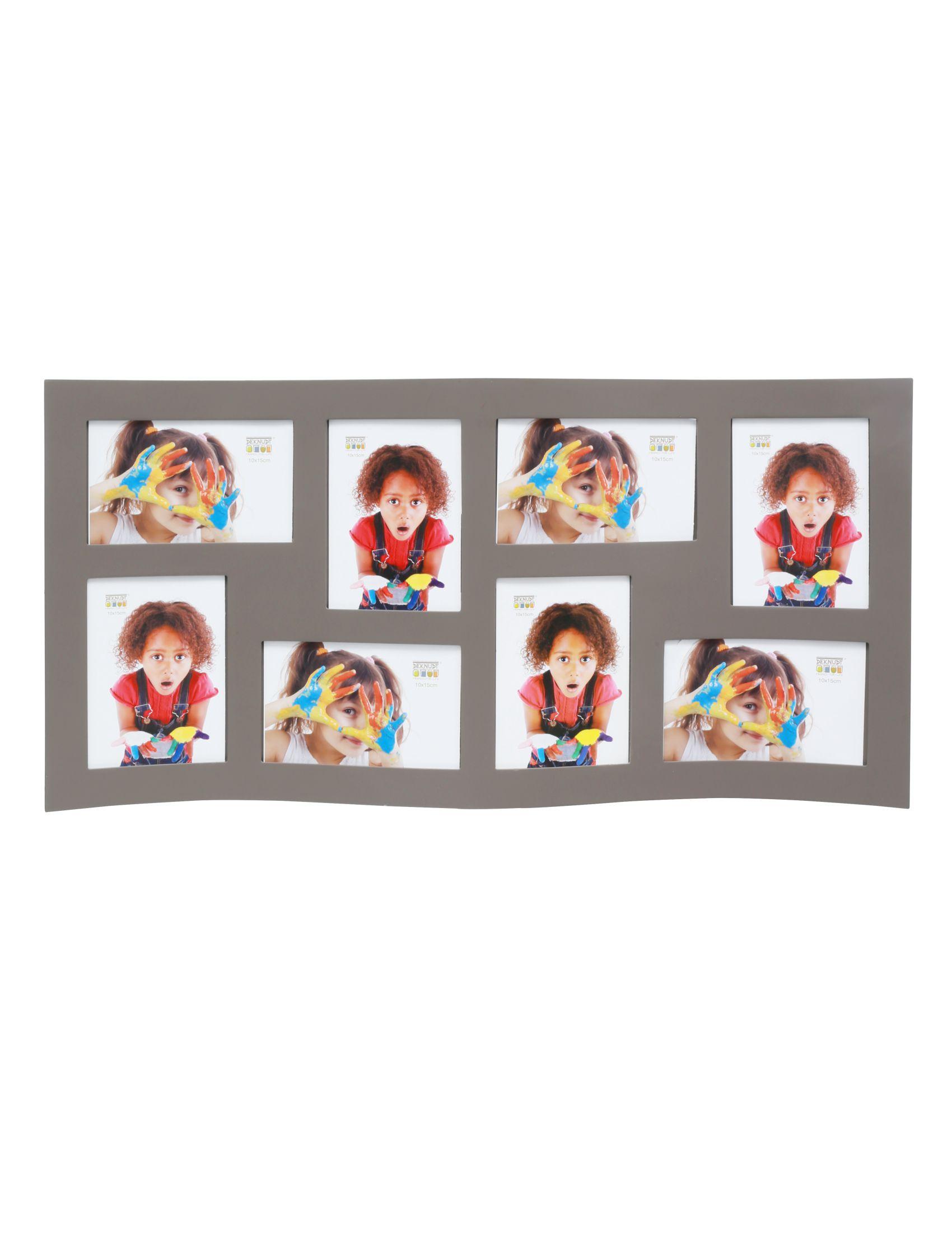 Multifotolijst taupe gebogen, voor 8 foto's 10x15cm S67SK9 P8