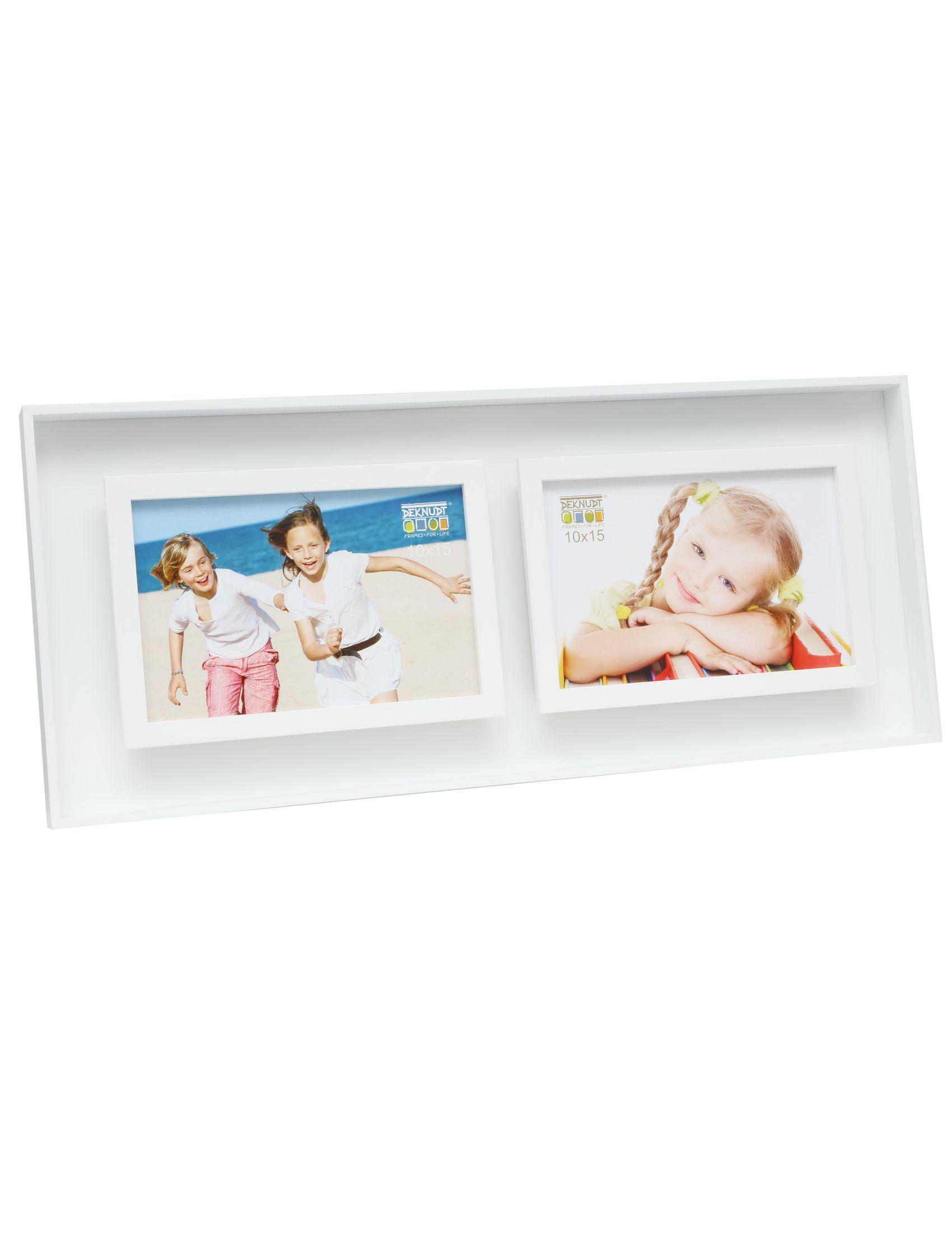 fotokader wit hout met diepte-effect, voor 2 foto's 10x15 horizontaal S68DK1 P2