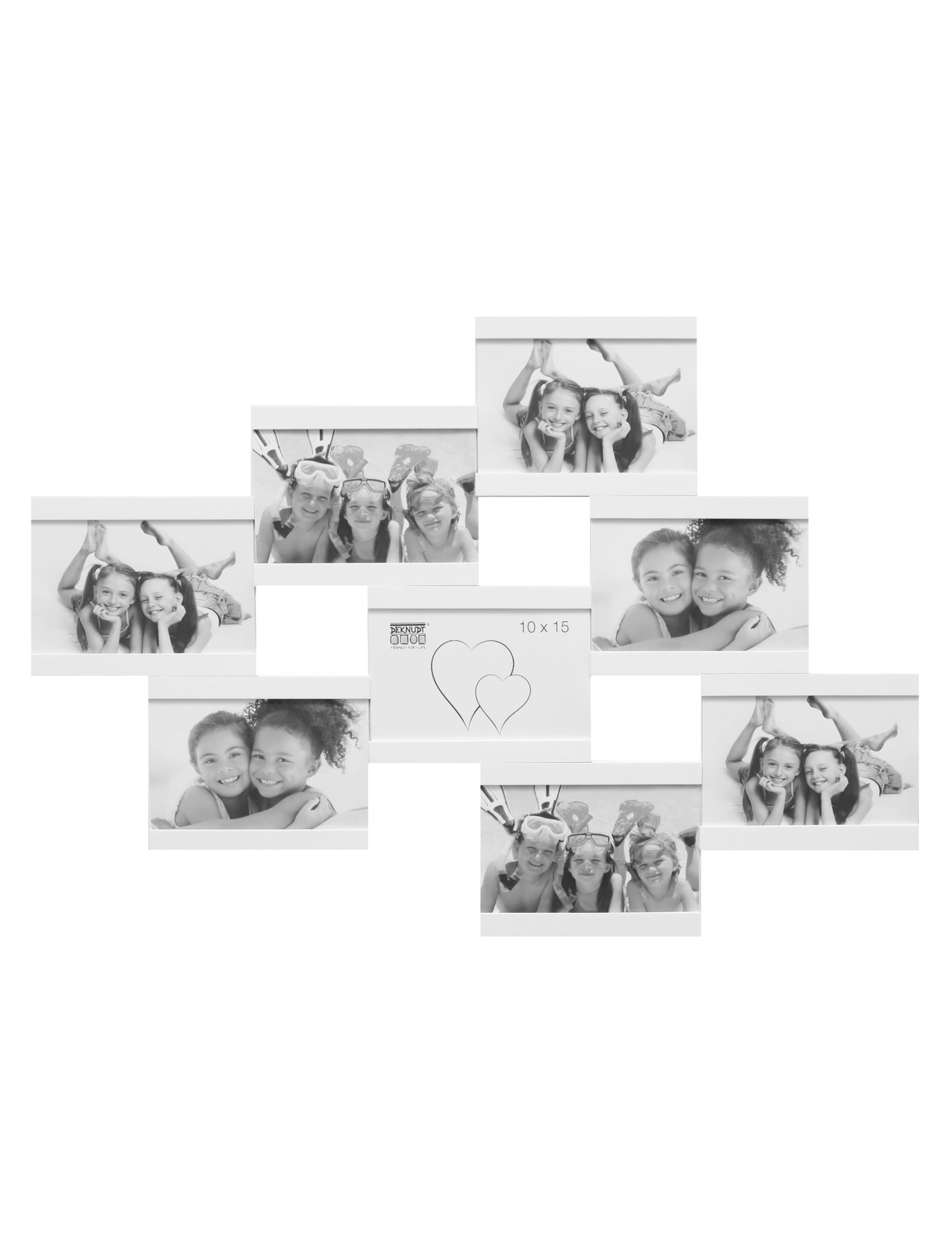 Multifotolijst in wit voor 8 foto's S68RK1 P8