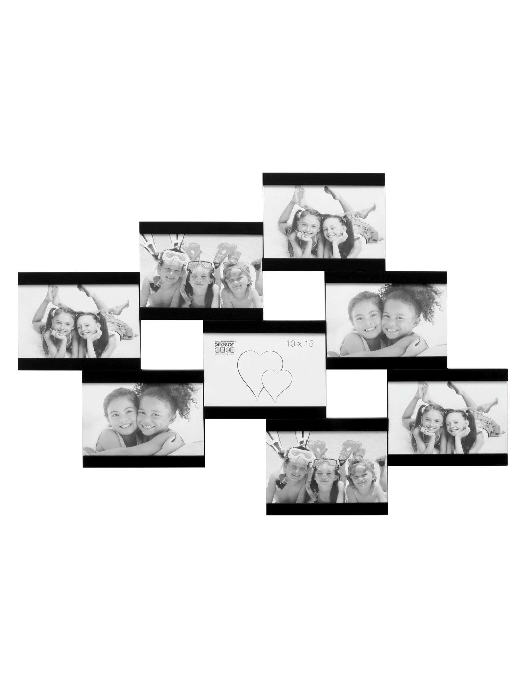 Multifotolijst in zwart voor 8 foto's S68RK2 P8