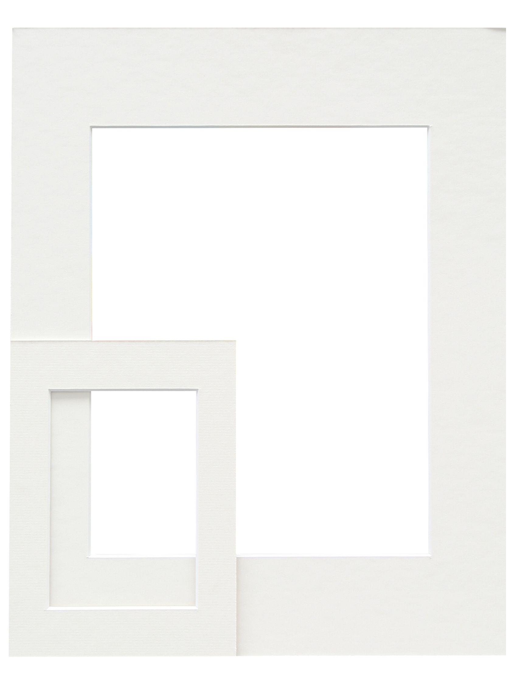 gebroken wit, passepartoutkarton met uitsnit SP110 13X13