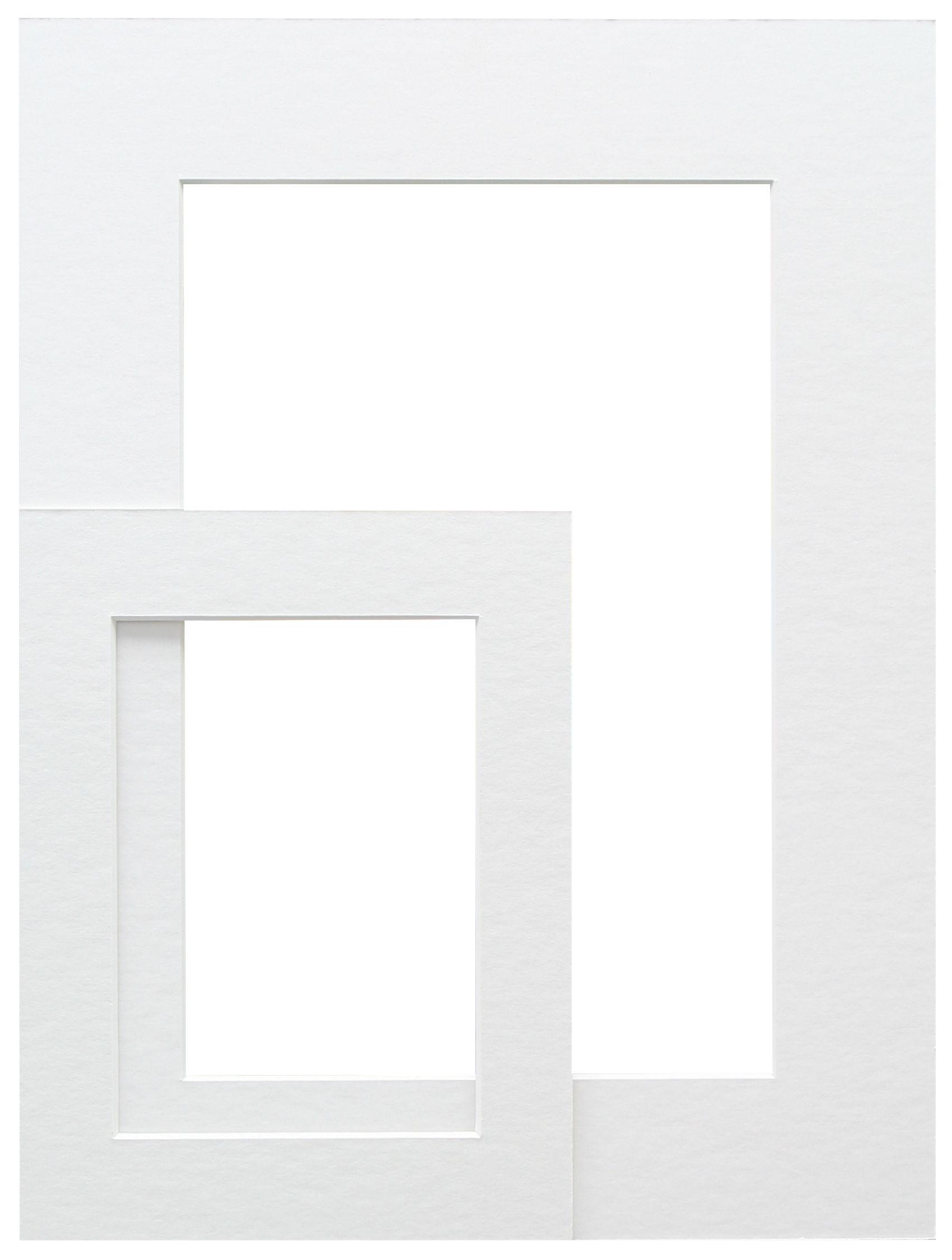 wit, passepartout         karton met uitsnit SP111 13X13