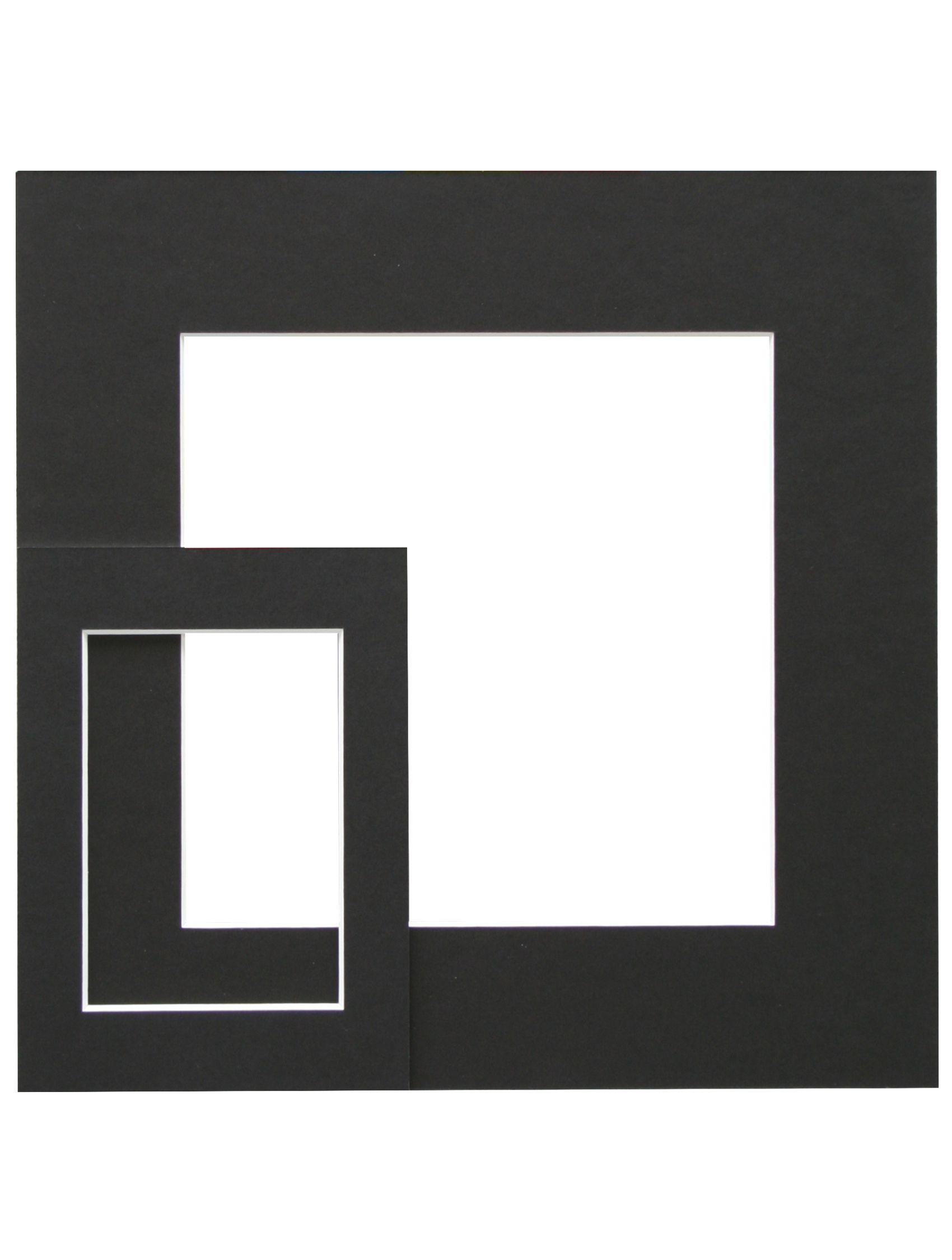 zwart, passepartout       karton met uitsnit SP115 13X18